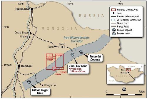 Haranga Continues Drilling Success At Selenge - Us iron mines map